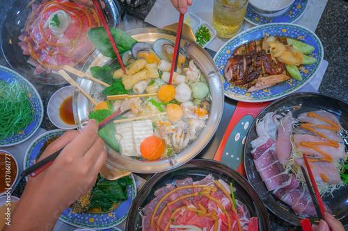 Photo Family marty with sukiyaki