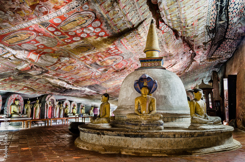 Poster Temple Dambulla Cave Temples, cave 2 (Cave of the Great Kings or Temple of the Great King), Dambulla, Central Province, Sri Lanka, Asia