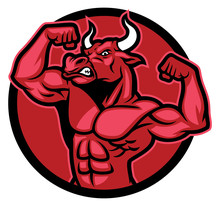 Bull Bodybuilder Pose And Show...