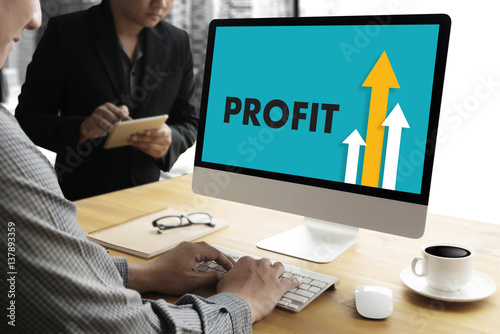Businessman Success Increase Profit Growth Target Earnings Quality