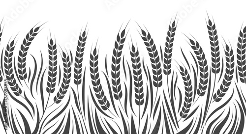 Foto Harvest horizontal pattern vector illustration