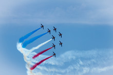 The Patrouille De France Making Flag Figure