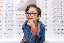 Boy In Glasses , At Optics Sto...