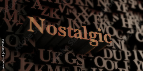 Fotografie, Obraz  Nostalgic - Wooden 3D rendered letters/message