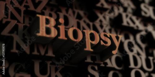 Fotografia, Obraz  biopsy - Wooden 3D rendered letters/message