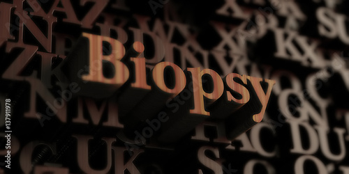 Fototapeta biopsy - Wooden 3D rendered letters/message
