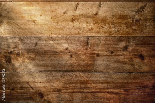 Fotografie, Obraz  Wood texture background with beams of light.