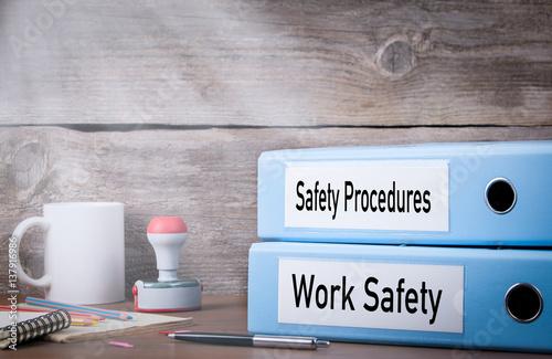 Obraz na plátně Work Safety and Safety Procedures
