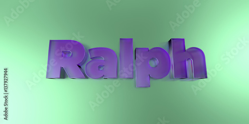 Photo  Ralph - colorful glass text on vibrant background - 3D rendered royalty free stock image