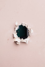 Rough Hole With Uneven Edges I...