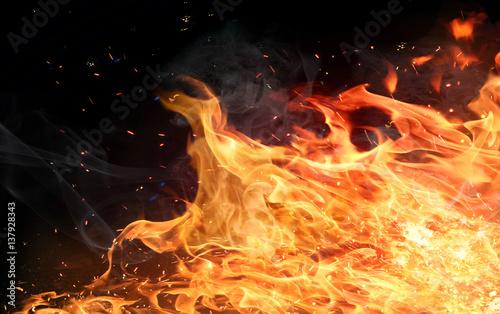 Firestorm texture Tableau sur Toile