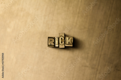 Fotografie, Tablou  RICK - close-up of grungy vintage typeset word on metal backdrop