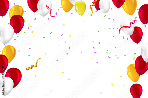 Festive background for greeting cards presentations commercial ad festive background for greeting cards presentations commercial ad with color inflatable balloons and m4hsunfo