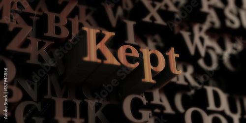 Fotografía  Kept - Wooden 3D rendered letters/message