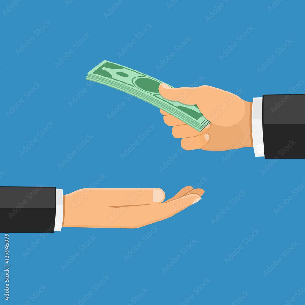 Fototapety, obrazy: Hand with Money