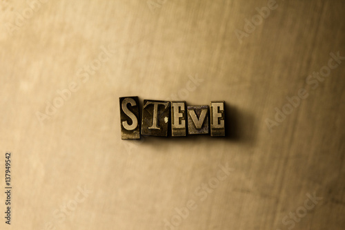 Obraz na plátne STEVE - close-up of grungy vintage typeset word on metal backdrop