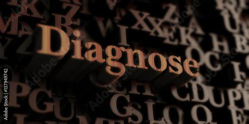 Fotografie, Obraz  diagnose - Wooden 3D rendered letters/message