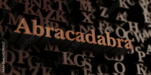 Photo Abracadabra - Wooden 3D rendered letters/message