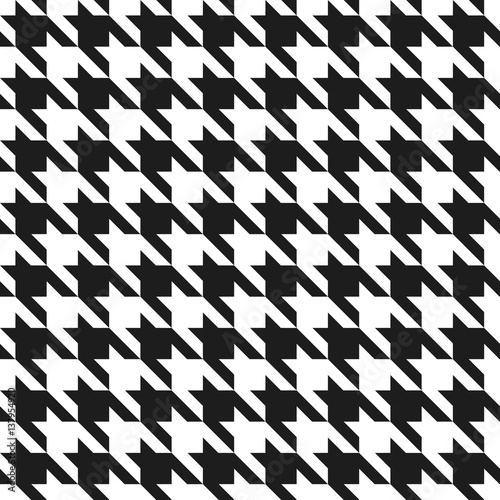 Houndstooth Pattern in Black and White Tapéta, Fotótapéta