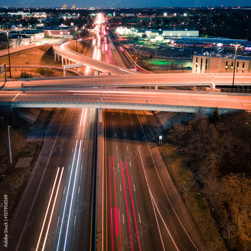 Fotografering  Highway Lights