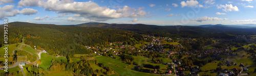Luftaufnahme Panorama Fichtelberg