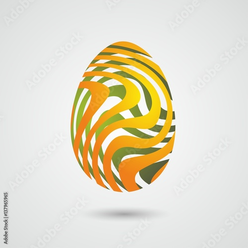 Fototapeta Wielkanoc abstrakcyjna pisanka, jajko obraz
