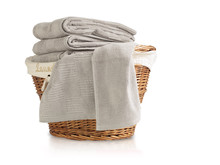 Laundry Basket Full Of Towels