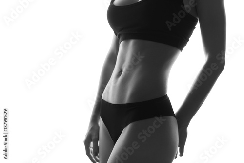 Fotografía  Sexy slim fit woman body abs