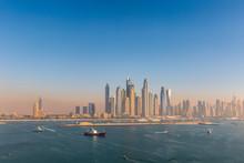 Aerial View Of Dubai Marina At...