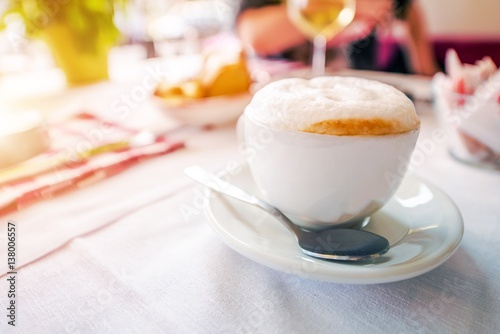 Foamy Tasteful Cappuccino Canvas Print