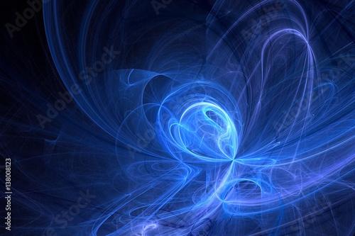Fototapety, obrazy: 3D rendering abstract fractal light background
