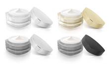 Classic Color Triangle Cosmetic Jar Open Cap