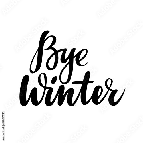 Farewell Greeting Card With Phrase Bye Winter Vector