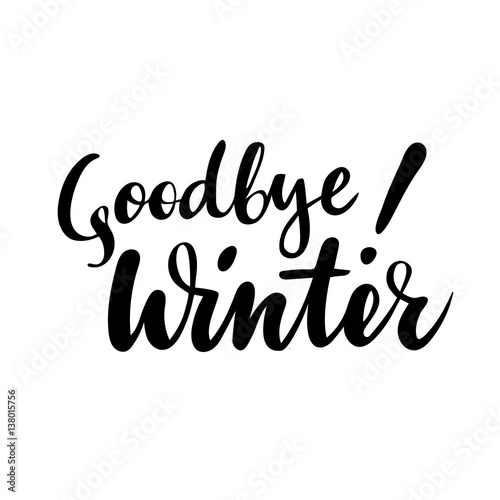 Farewell greeting card with phrase goodbye winter vector isolated farewell greeting card with phrase goodbye winter vector isolated illustration brush calligraphy m4hsunfo