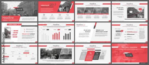 Fototapeta Elements for infographics and presentation templates. obraz