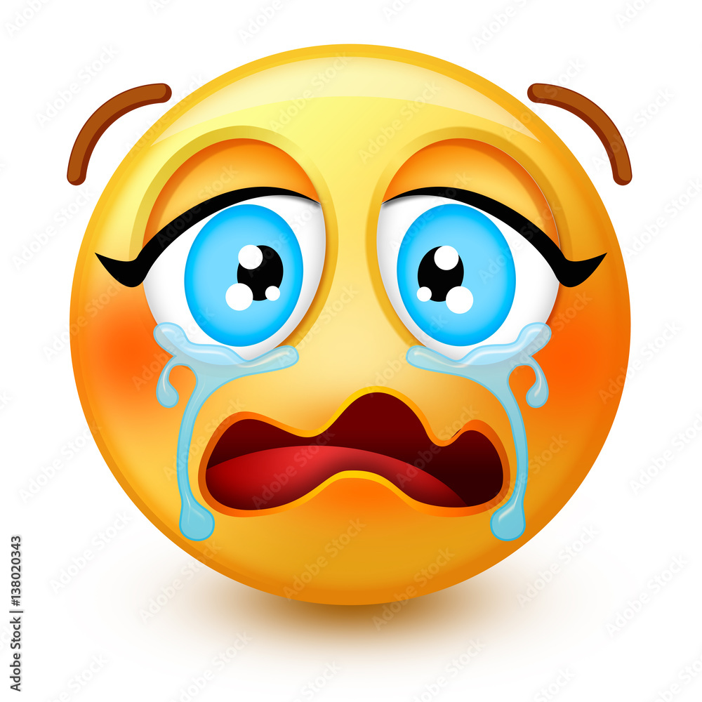 Cute Loudly Crying Face Emoticon Or 3d Desperate Emoji With Tears Streaming Down Both Cheeks It Shows Sadness Hurt Inconsolable Pain And Upset Stock Gamesageddon Quickly find or get emoji codes with our searchable online emoji keyboard! cute loudly crying face emoticon or 3d
