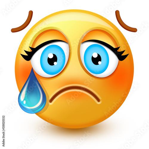 Crying kawaii face