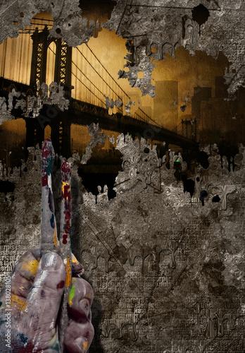 abstrakcyjny-malunek-mostu-brooklinskiego