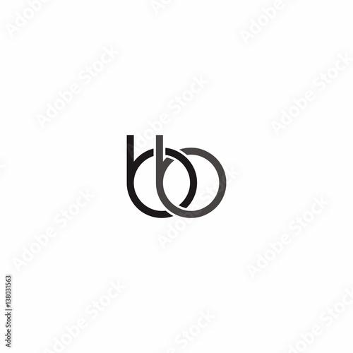 bb letter Logo Vector Wallpaper Mural