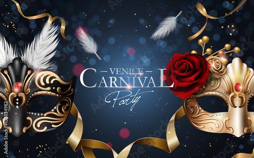 Venice carnival poster Fototapete