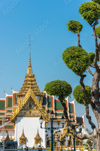 Exterior of Rajakaranya Sapha Hall in Grand Palace, Bangkok, Thailand Poster