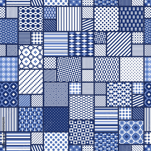 abstract seamless patchwork pattern Fototapete