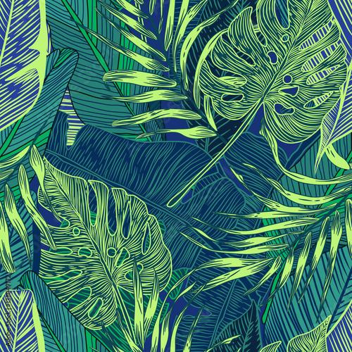Materiał do szycia rośliny tropikalne