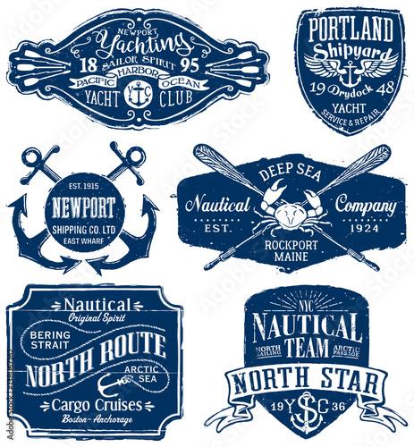 Fotografie, Obraz Vintage vector nautical labels
