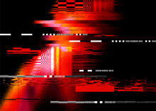 A Red Glitch Noise Distortion ...