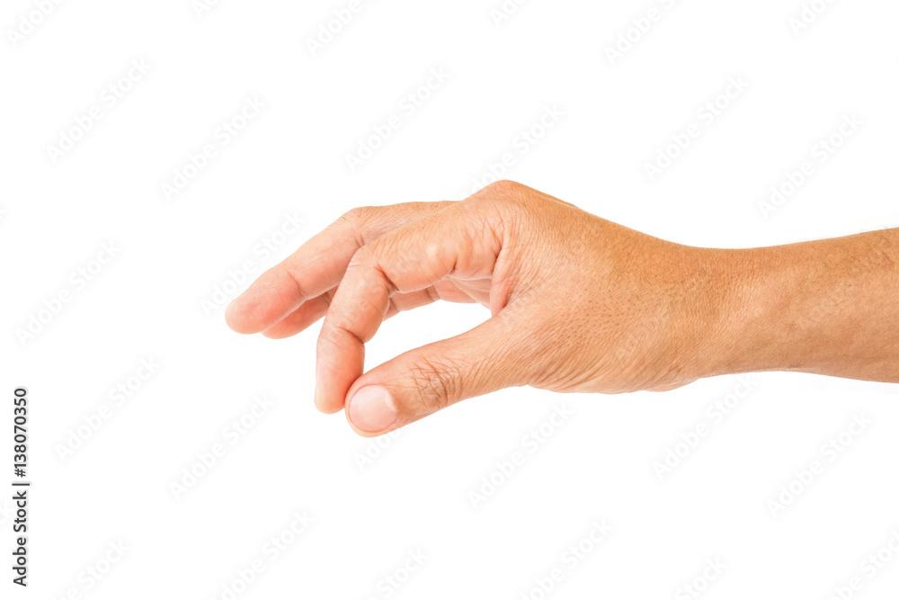 Fototapeta man hand to hold something