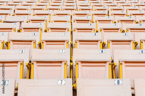 Light Orange Seat. Canvas Print
