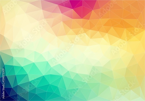 Abstract geometric colorful element. Vector background