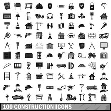 100 Construction Icons Set In ...