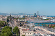 Panoramic view of the city of Barcelona. Aerial view